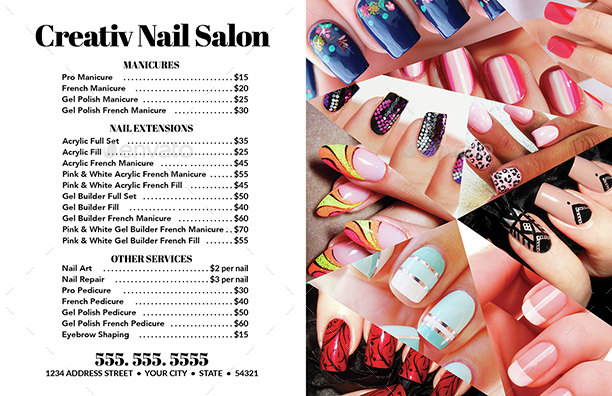 Nail Salon Flyer & Business Card Templates 2 by CreativB ...