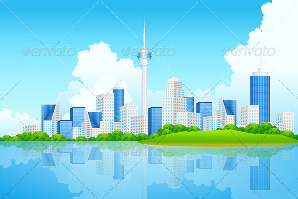 Business City Background - Backgrounds Business
