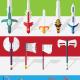 15 Flat Vector Weapons Sprites