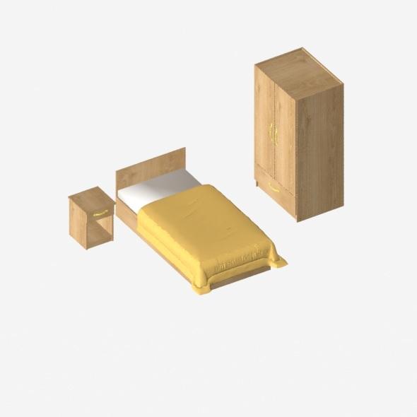 bedroom sets - 3DOcean Item for Sale