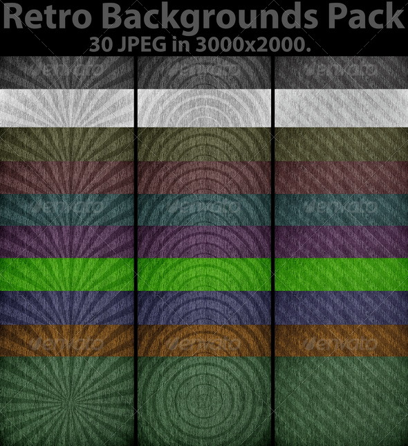 Retro Backgrounds Pack - Backgrounds Graphics