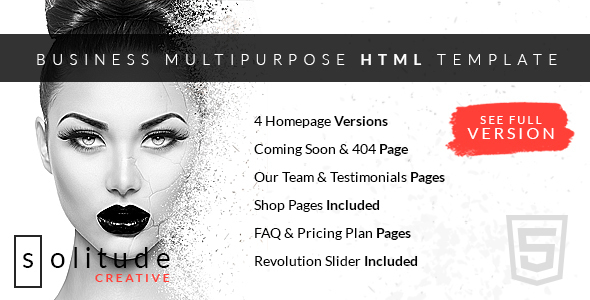 Solitude Business Multi-Purpose HTML Template
