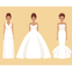 Girl in Different Wedding Dresses