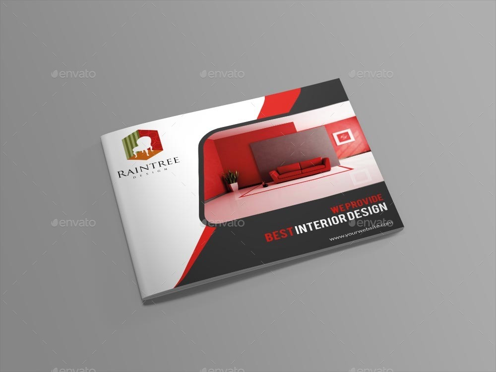 Interior Design Brochure Template by themexone – Interior Design Brochure Template