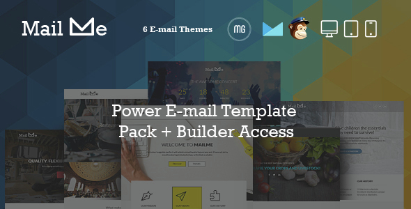 MailMe - Responsive Email Power Pack + MG Builder