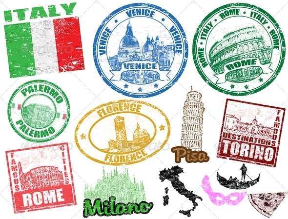 GraphicRiver Stamps with Italy 1487971