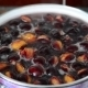 Plum Compote Boil In Saucepan On The Stove