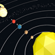 Low poly solar system