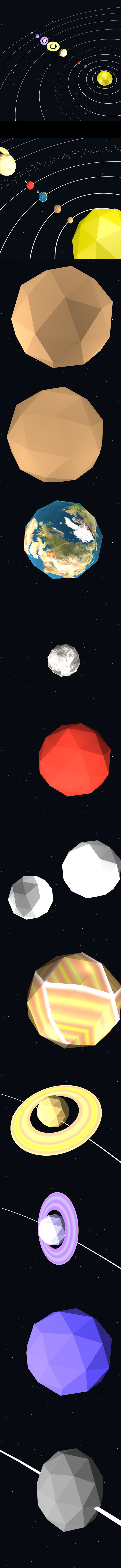 3DOcean Low poly solar system 14883283