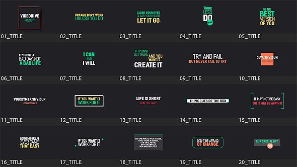 Minimal Titles Pack