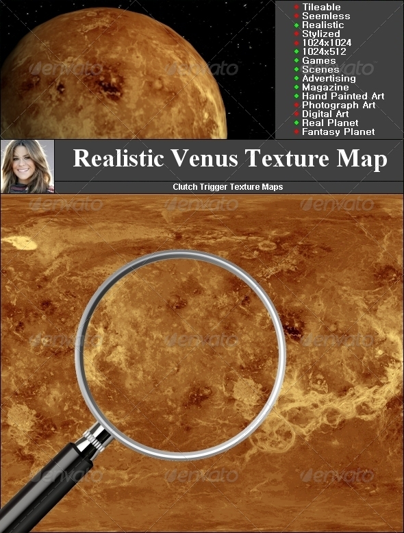 Venus Texture Map - 3DOcean Item for Sale