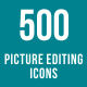 500 Picture Editing Icons Bundle