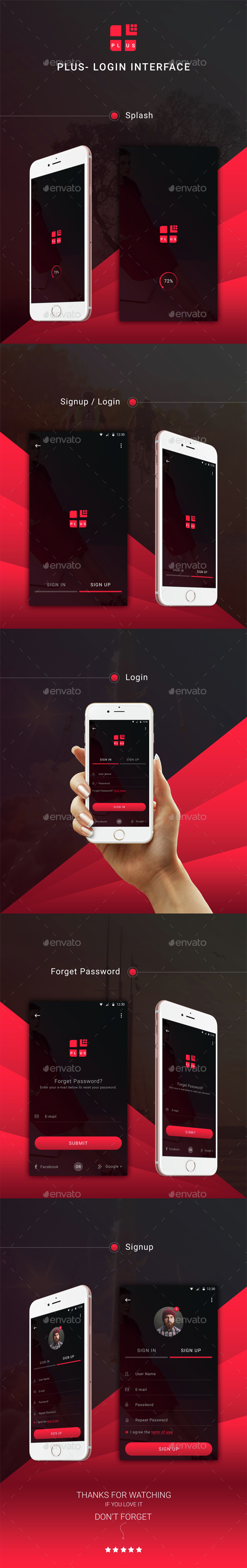 Plus - Login Interface (User Interfaces)