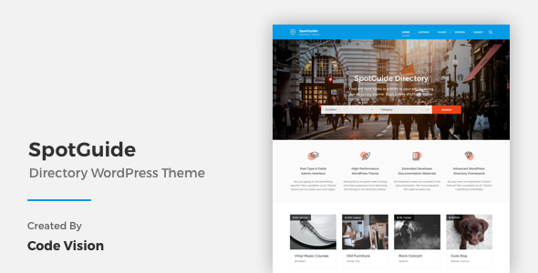 20 - SpotGuide - High Performance Directory WordPress Theme