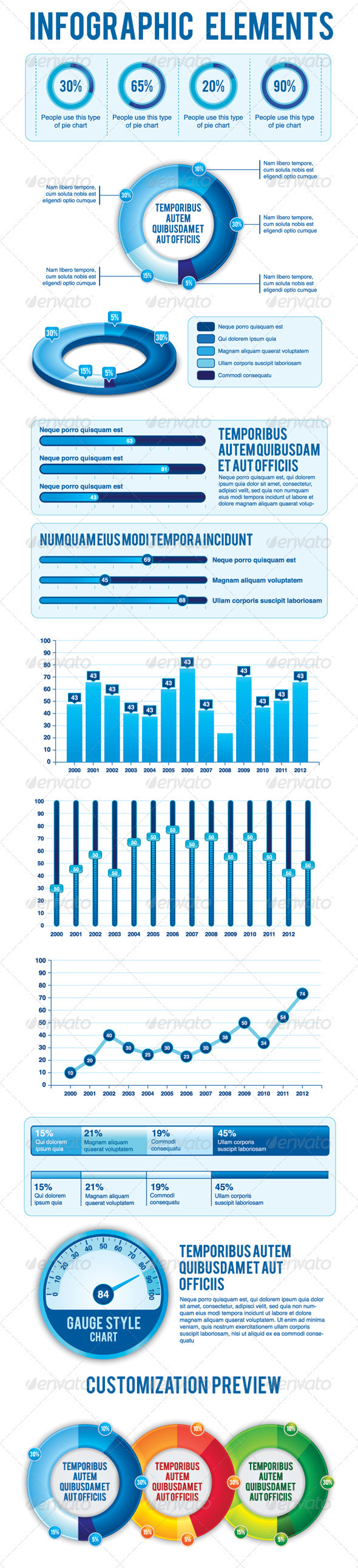 GraphicRiver Blue Theme Infographic Element 1225959