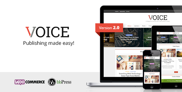 Download Voice - Clean News/Magazine WordPress Theme nulled download
