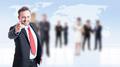 Business employeer selecting new employee