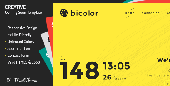 Bicolor - Creative Coming Soon Template