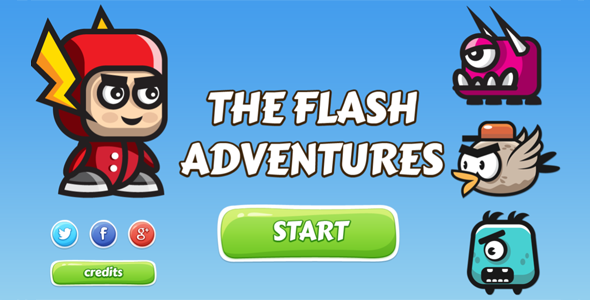 The Flash Adventures - HTML5 Game - CodeCanyon Item for Sale