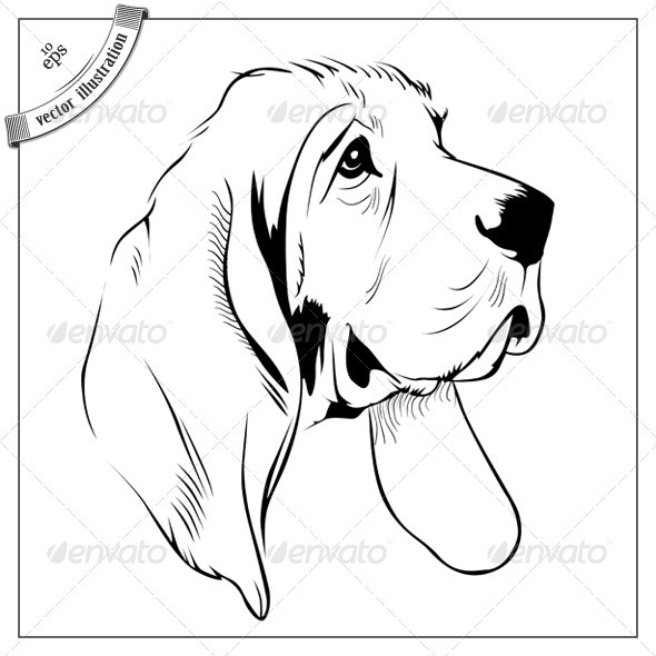 Graphic River Cartoon Dog Face Vectors -  Characters  Animals 1489502