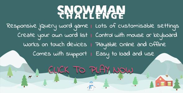 Snowman Challenge - Word Game