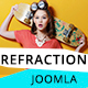 Refraction — Creative Agency and Blog Responsive Joomla Multipurpose Template with 4 Demo