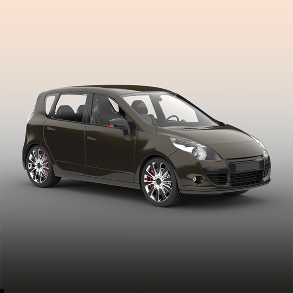 Hatchback car - 3DOcean Item for Sale
