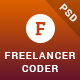 Freelancer Coder - One Page Portfolio PSD Template