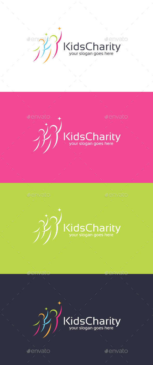 Kids Charity Logo Template