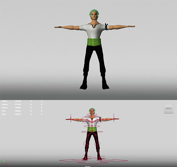 Roronoa Zoro 3D Model - 3DOcean Item for Sale