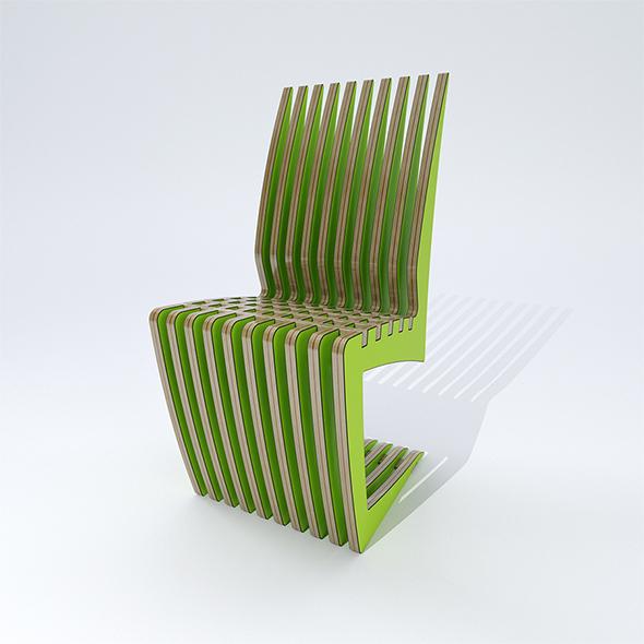 Laser cut Chair - 3DOcean Item for Sale