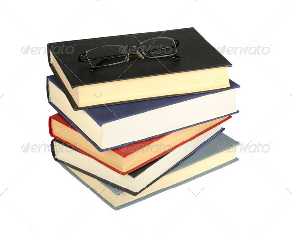glasses and books - Stock Photo - Images