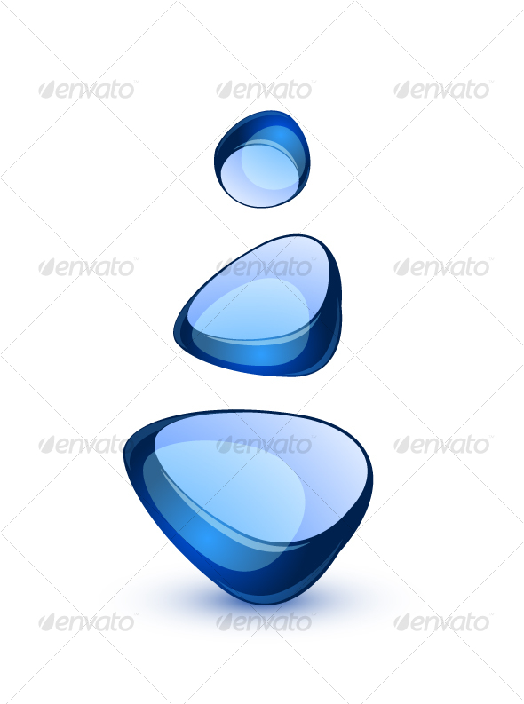 Abstract glass shapes - Abstract Conceptual