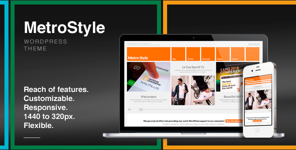 0 main banner.  large preview - MetroStyle Responsive All Purpose WordPress Theme
