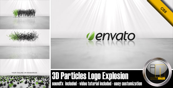After Effects Project - VideoHive 3D Particles Logo Explosion 1491975