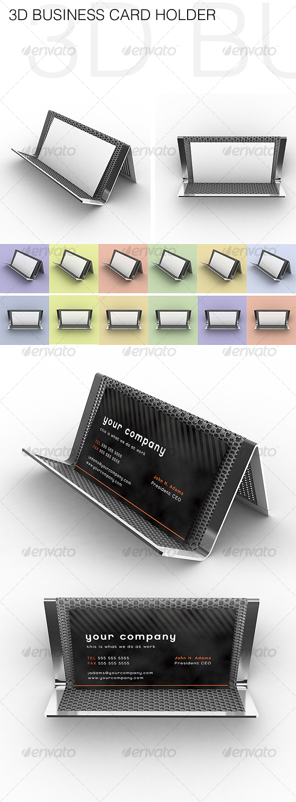 3D Business Card Holder - 3D Renders Graphics