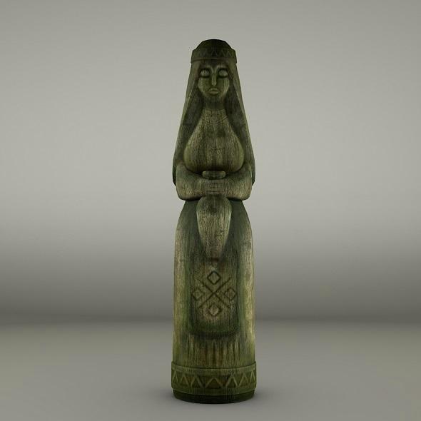 Women wooden totem - 3DOcean Item for Sale
