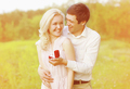 Happy couple, ring, engagement, wedding - concept