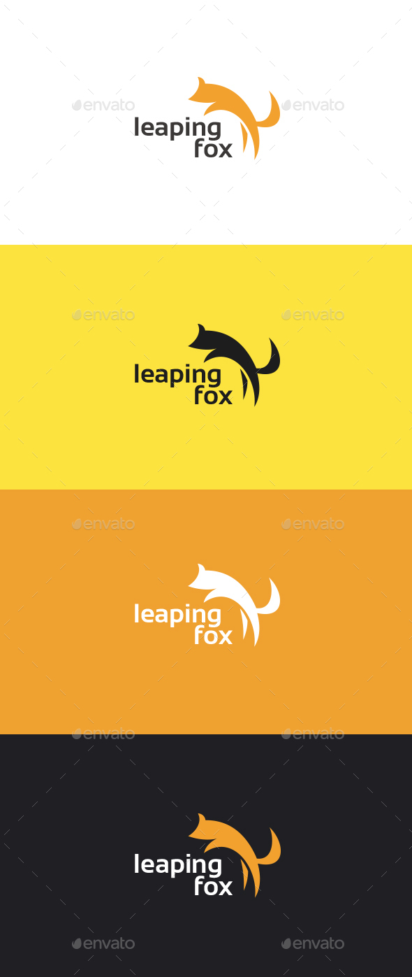 Leaping Fox Logo Template