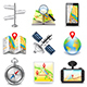 Maps and Navigation Icons Vector Set