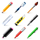 Drawing Tools Icons Vector Set