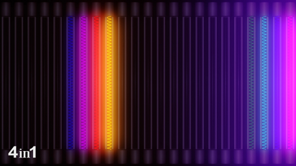 VideoHive Lights Colorful Panel 4-Pack 14918508