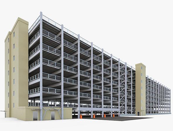 Multistory Parking Garage - 3DOcean Item for Sale