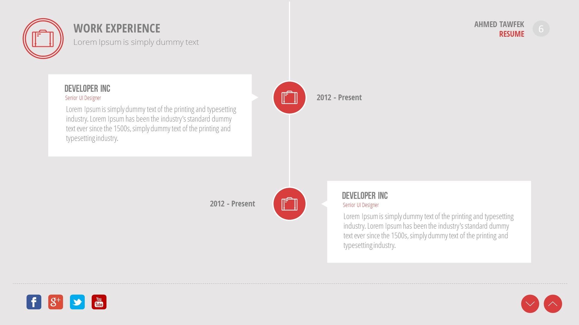 creative resume powerpoint template by ahmedtawfek