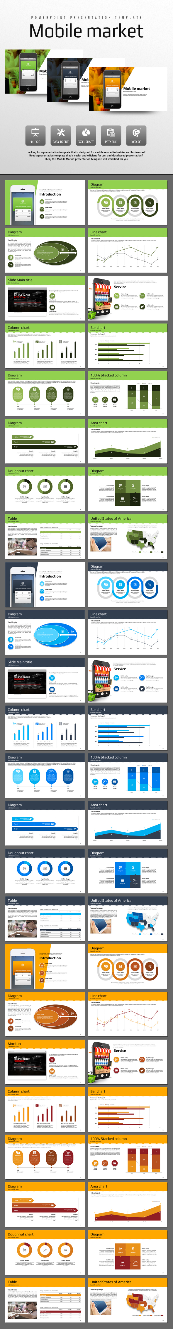 Mobile Market (PowerPoint Templates)