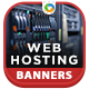 HTML5 Web Hosting Banners - GWD - 7 Sizes