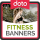 HTML5 Fitness Banners - GWD - 7 Sizes