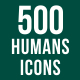 500 Humans Icons Bundle