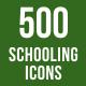 500 Schooling Icons Bundle