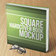 Square Hardcover Book Mockup